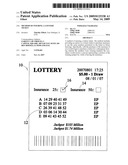 METHOD OF INSURING A LOTTERY TICKET diagram and image