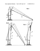 Method for erecting a crane boom diagram and image