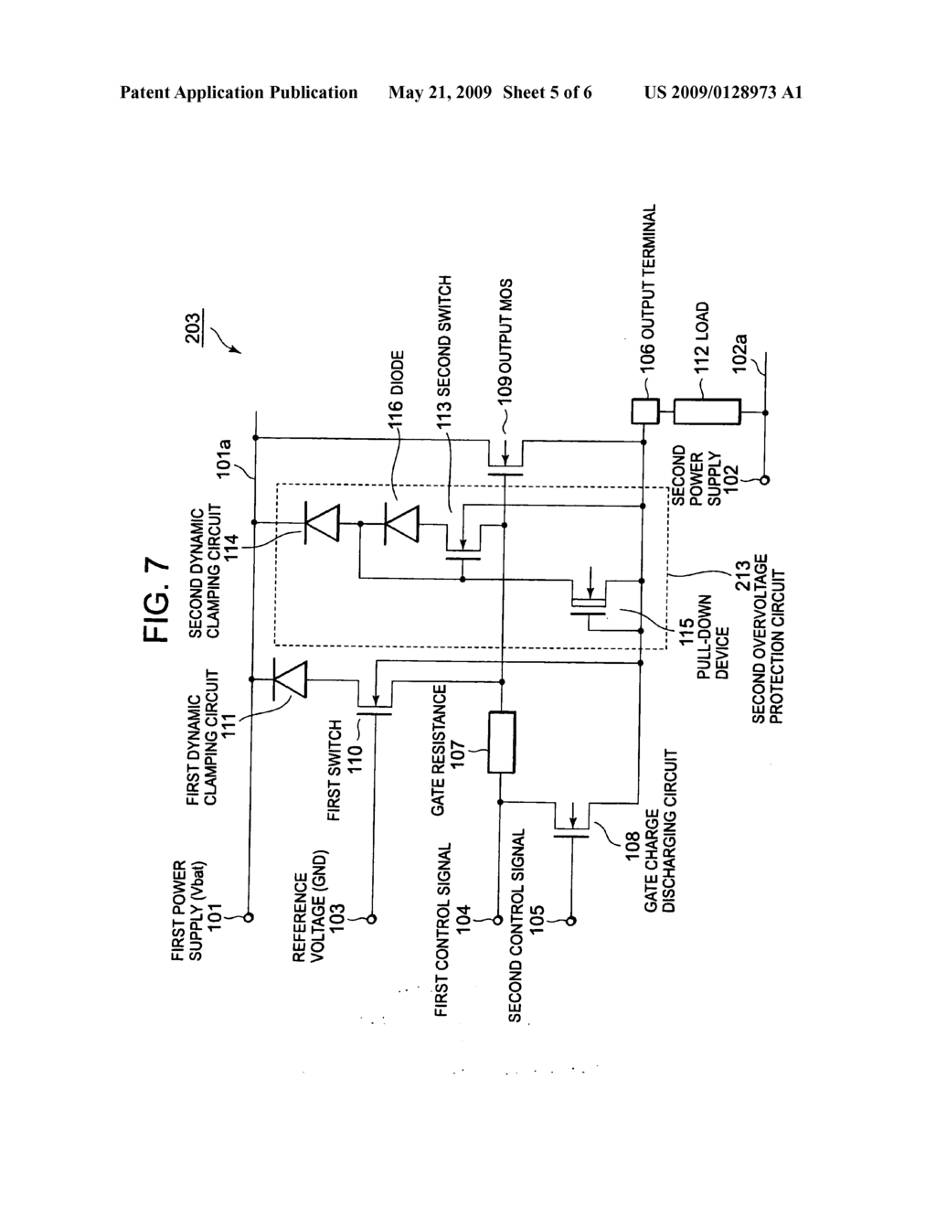 Power supply control circuit including overvoltage ... on