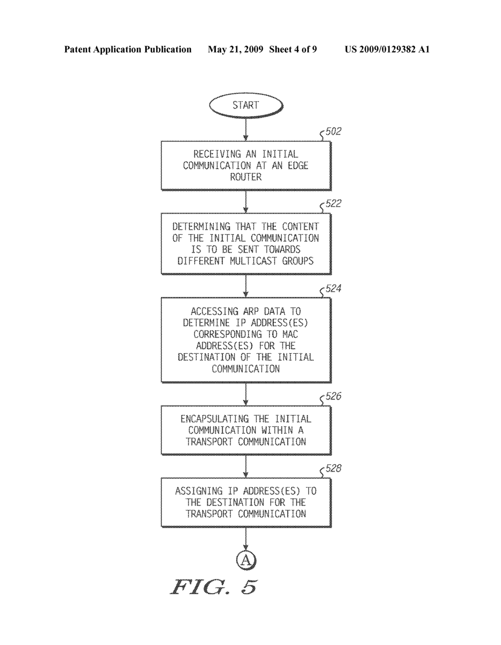 Method and System of Routing a Communication within a Network - diagram, schematic, and image 05
