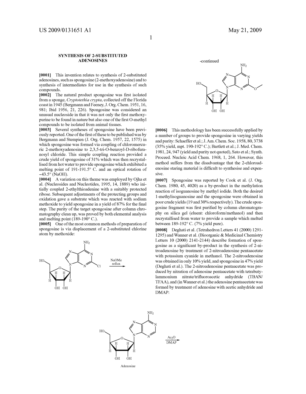 Synthesis of 2-substituted adenosines - diagram, schematic, and image 02