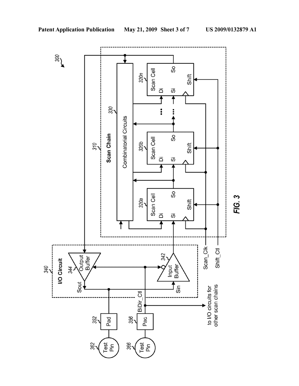 MULTIPLEXING OF SCAN INPUTS AND SCAN OUTPUTS ON TEST PINS FOR TESTING OF AN INTEGRATED CIRCUIT - diagram, schematic, and image 04