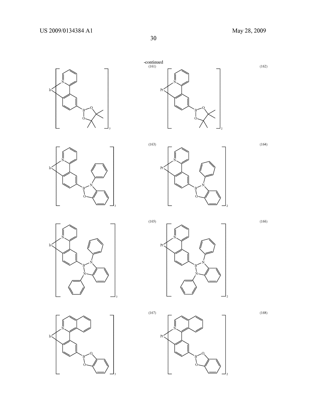 ORGANIC ELECTROLUMINESCENT DEVICE AND BORIC ACID AND BORINIC ACID DERIVATIVES USED THEREIN - diagram, schematic, and image 32