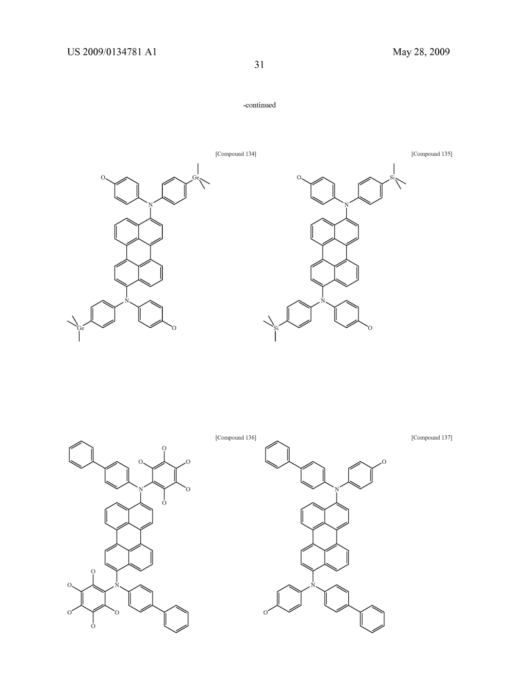 Diamine Derivatives, Preparation Method Thereof and Organic Electronic Device Using the Same - diagram, schematic, and image 33