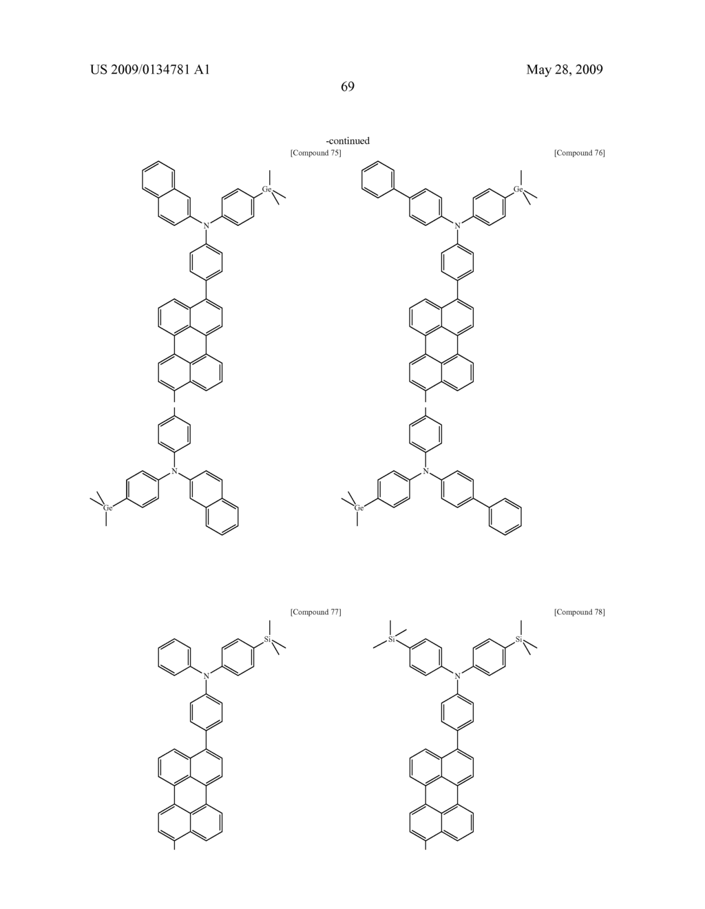 Diamine Derivatives, Preparation Method Thereof and Organic Electronic Device Using the Same - diagram, schematic, and image 71