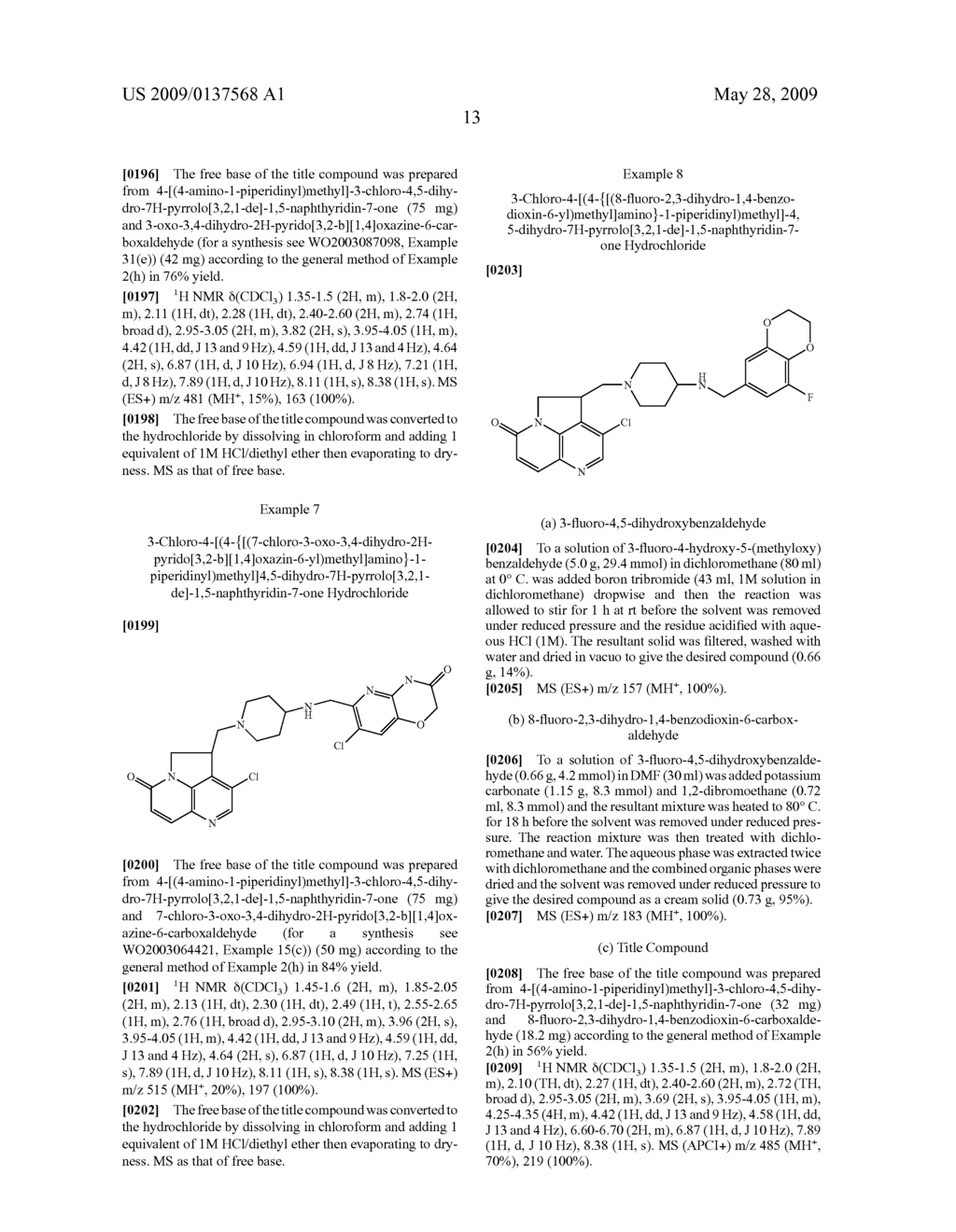Tryclic Nitrogen Containing Compounds and their Use as Antibacterials - diagram, schematic, and image 14