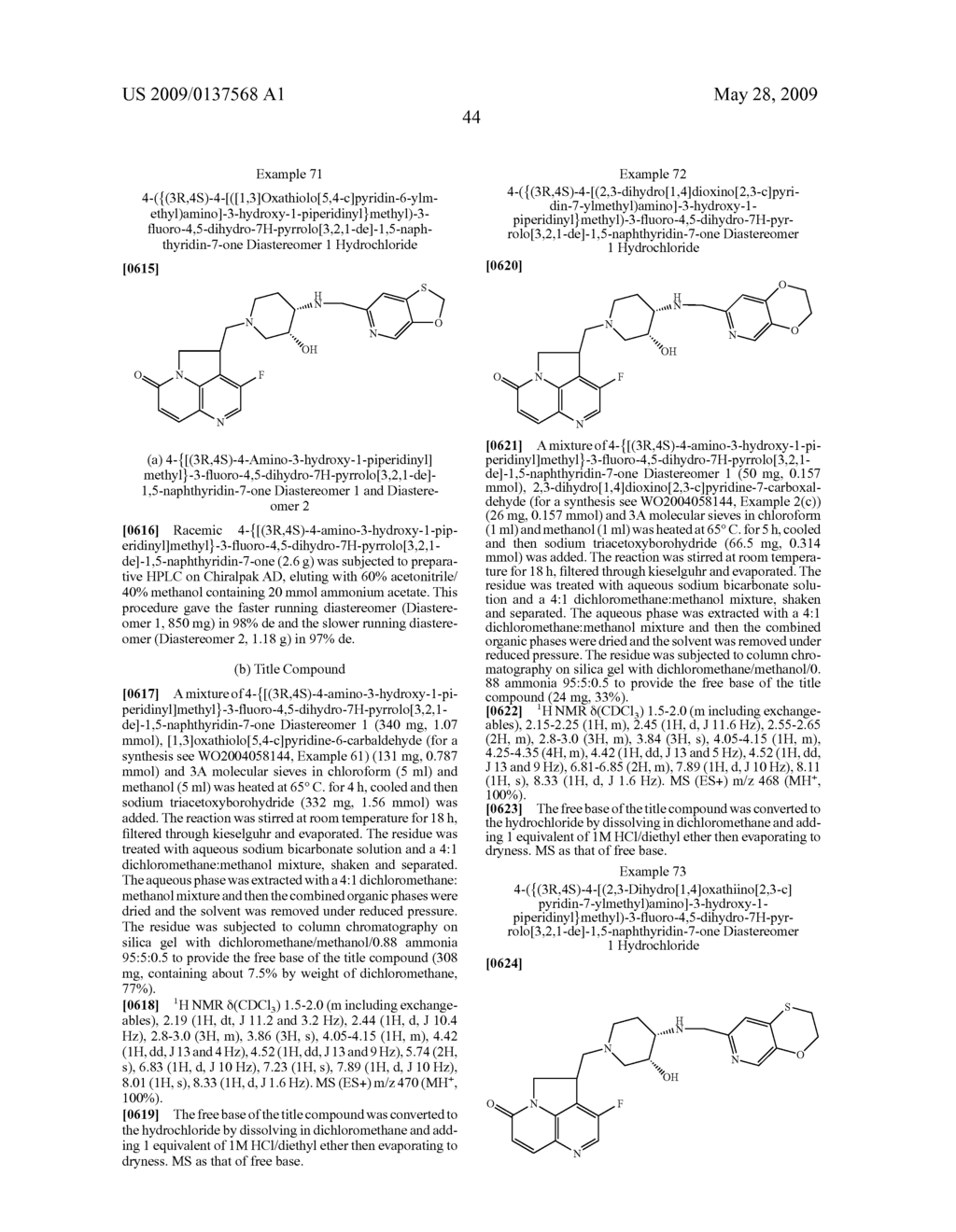 Tryclic Nitrogen Containing Compounds and their Use as Antibacterials - diagram, schematic, and image 45