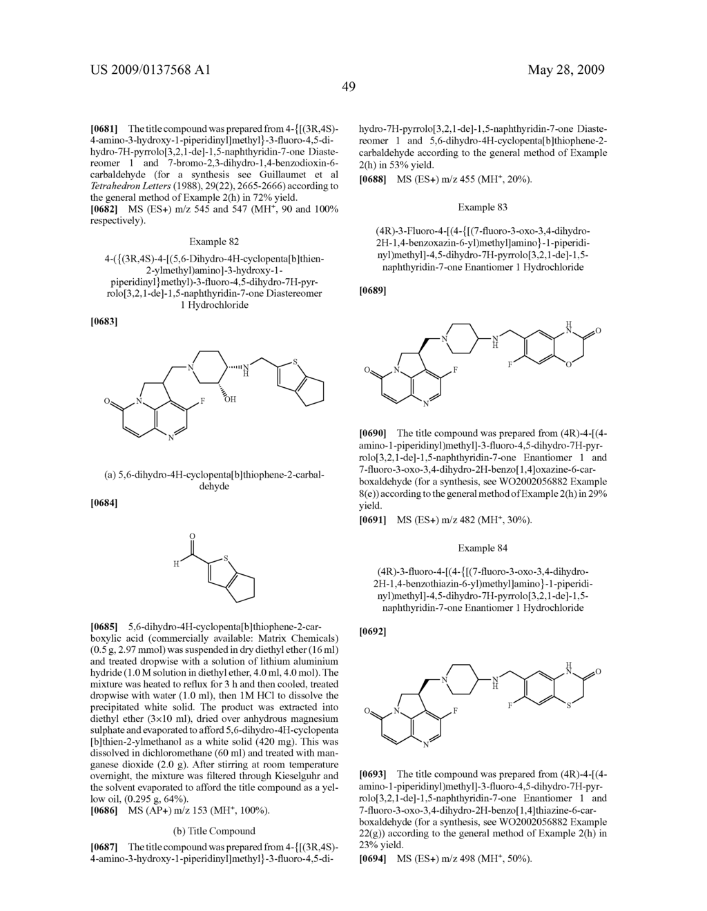 Tryclic Nitrogen Containing Compounds and their Use as Antibacterials - diagram, schematic, and image 50