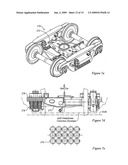 RAIL ROAD CAR TRUCK WITH BEARING ADAPTER AND METHOD diagram and image