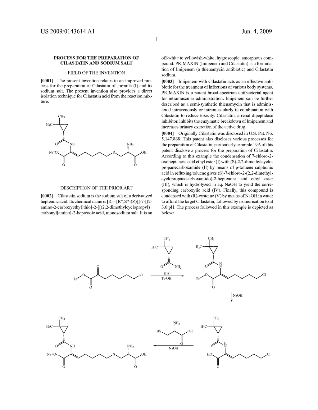 Process for the Preparation of Cilastatin and Sodium Salt - diagram, schematic, and image 02