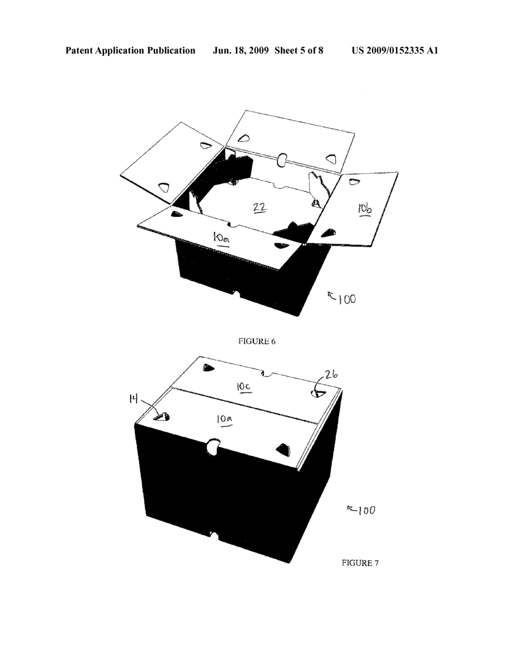 Container having stackable shelf assembly - diagram, schematic, and image 06