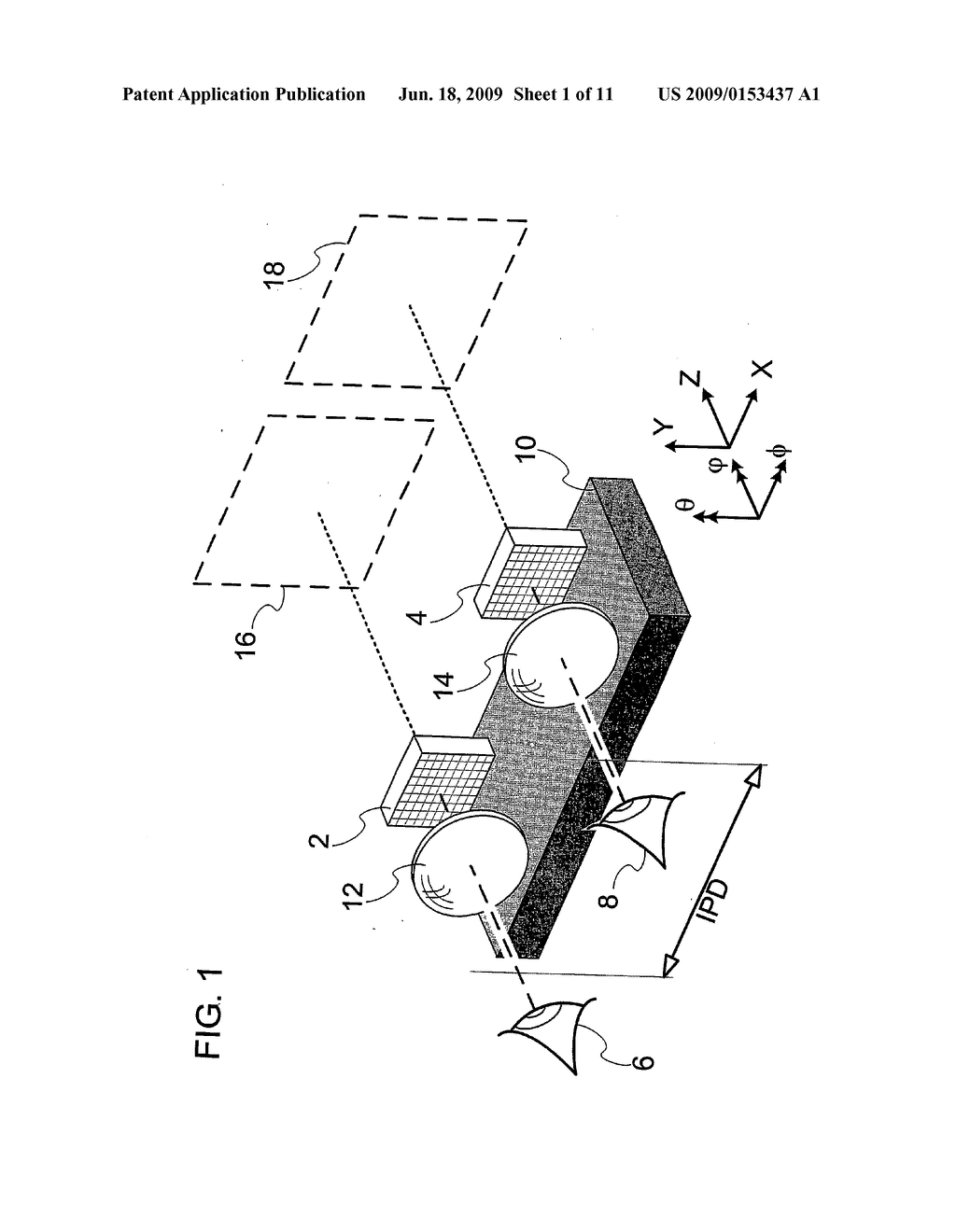 DEVICE AND METHOD FOR ALIGNMENT OF BINOCULAR PERSONAL DISPLAY - diagram, schematic, and image 02