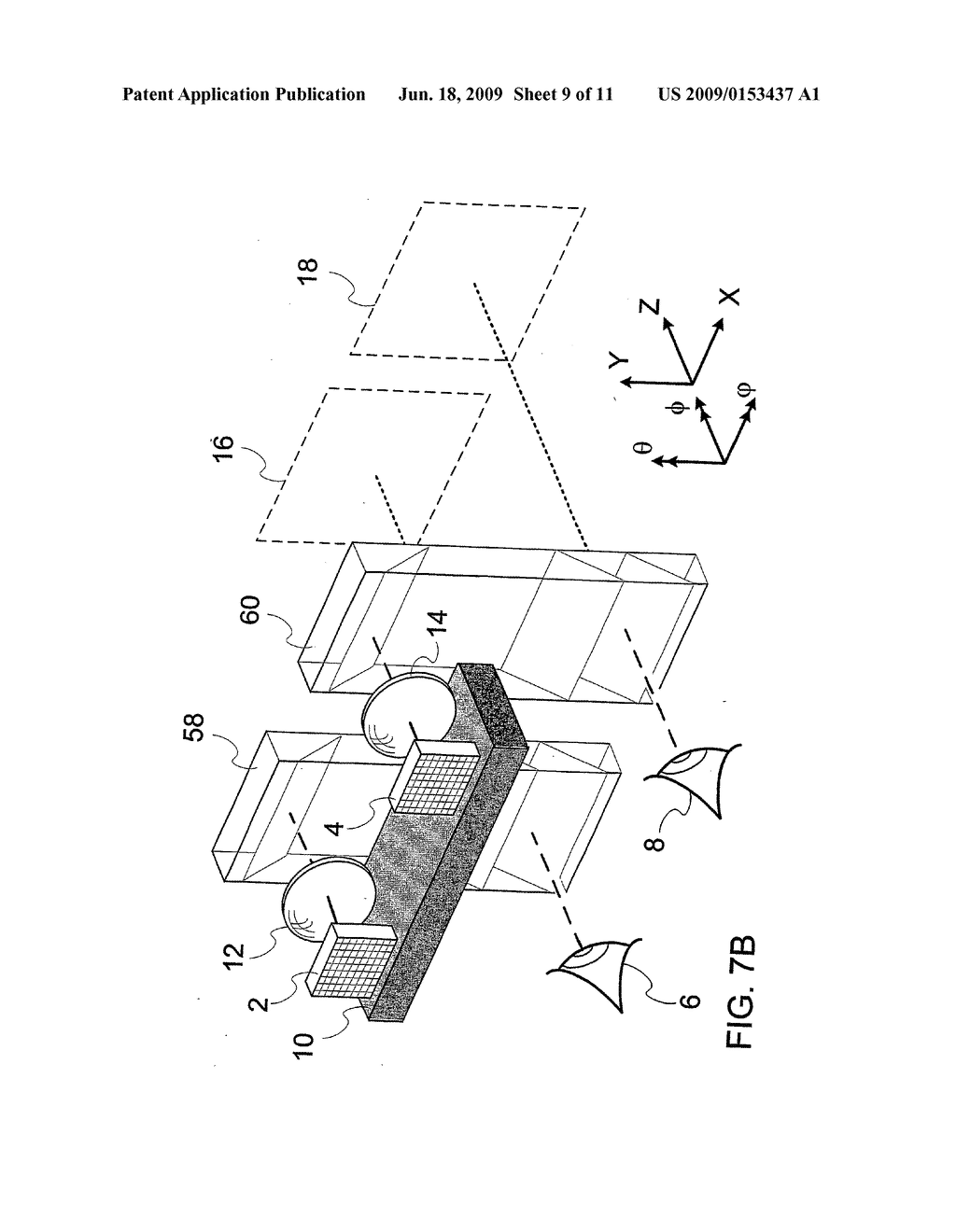 DEVICE AND METHOD FOR ALIGNMENT OF BINOCULAR PERSONAL DISPLAY - diagram, schematic, and image 10