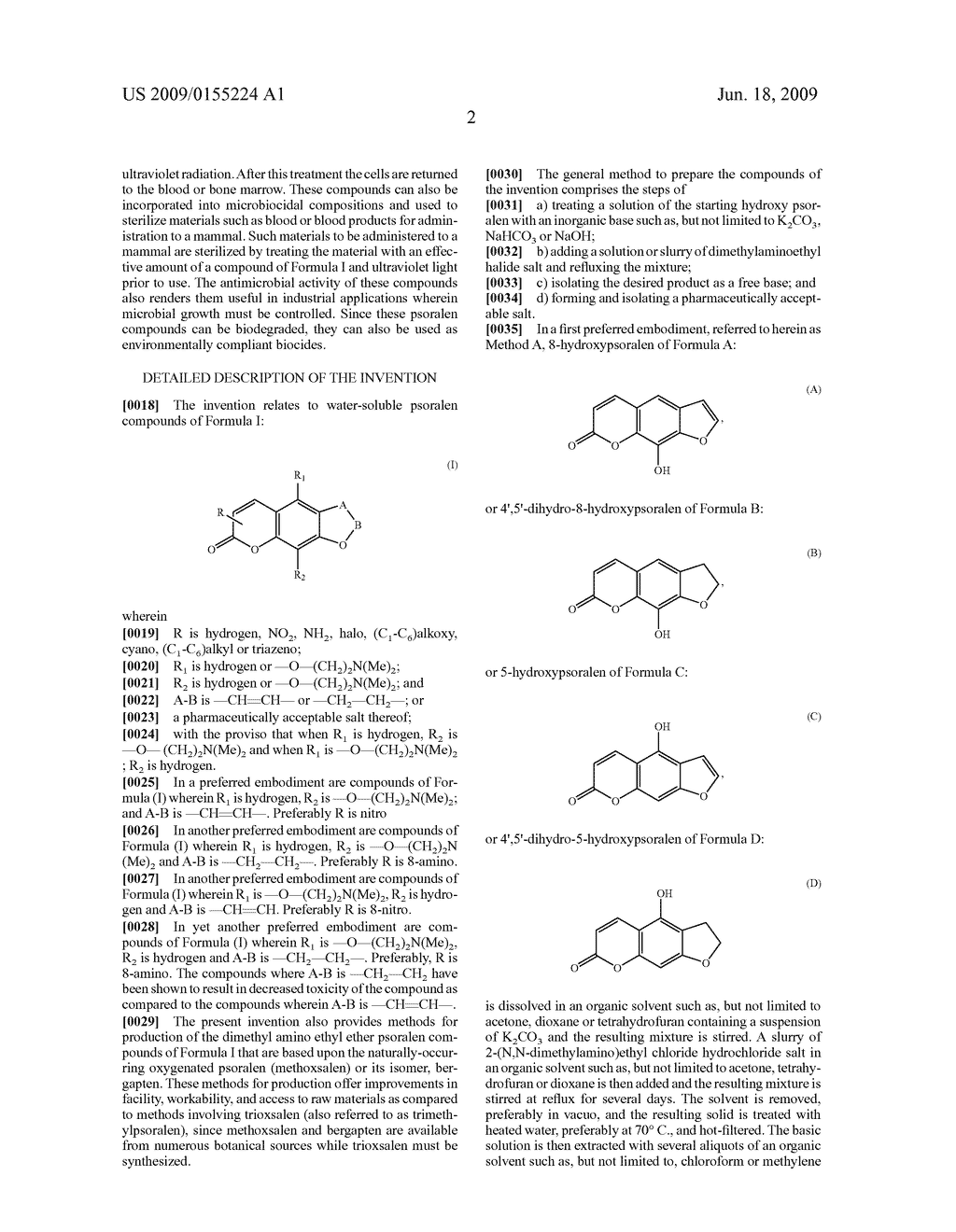 Dimethyl amino ethyl ether psoralens and methods for their production and use - diagram, schematic, and image 03