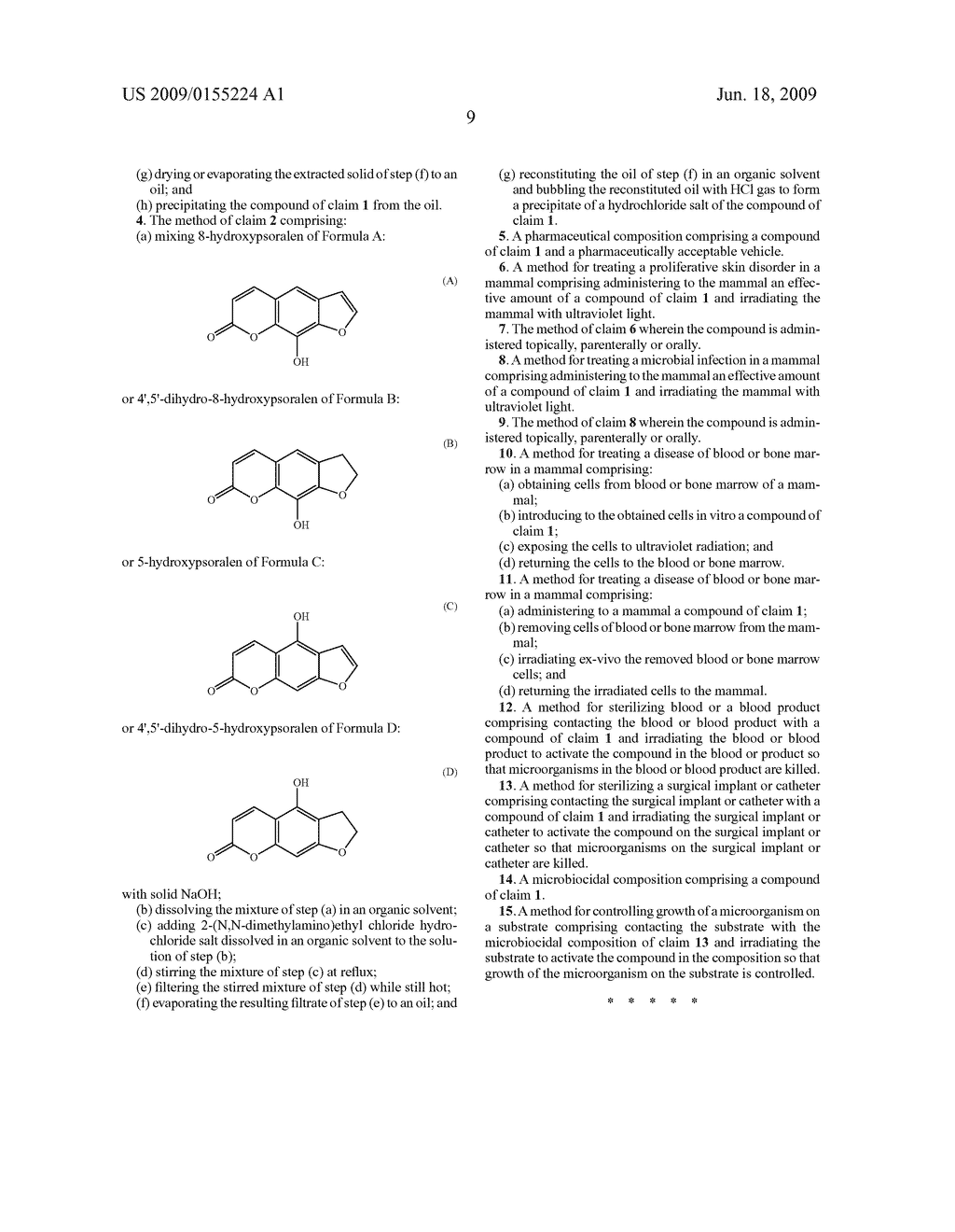 Dimethyl amino ethyl ether psoralens and methods for their production and use - diagram, schematic, and image 10