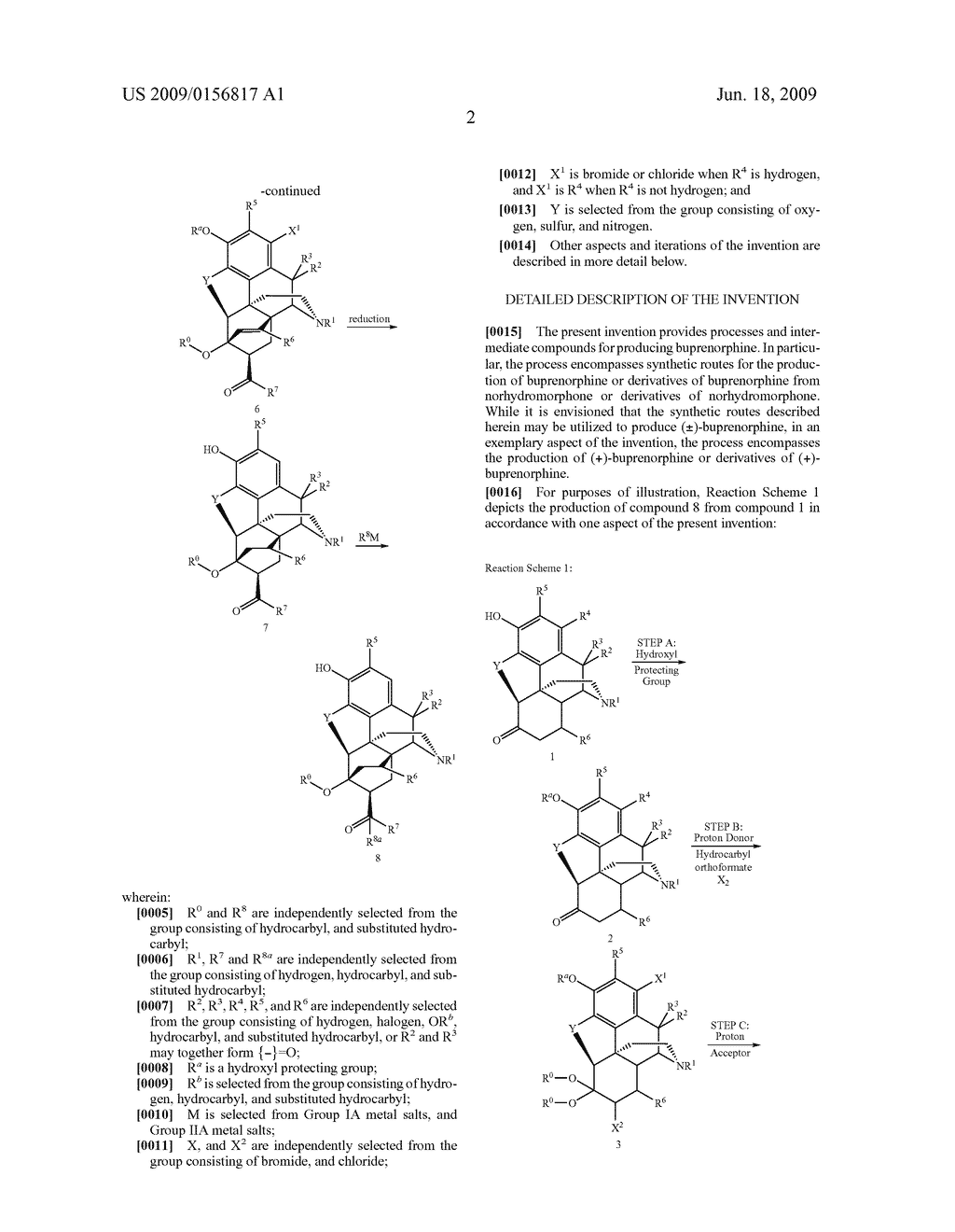 Process for the preparation of buprenorphine and derivatives for buprenorphine - diagram, schematic, and image 03