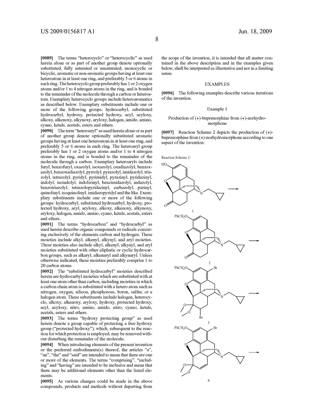 Process for the preparation of buprenorphine and derivatives for buprenorphine - diagram, schematic, and image 09