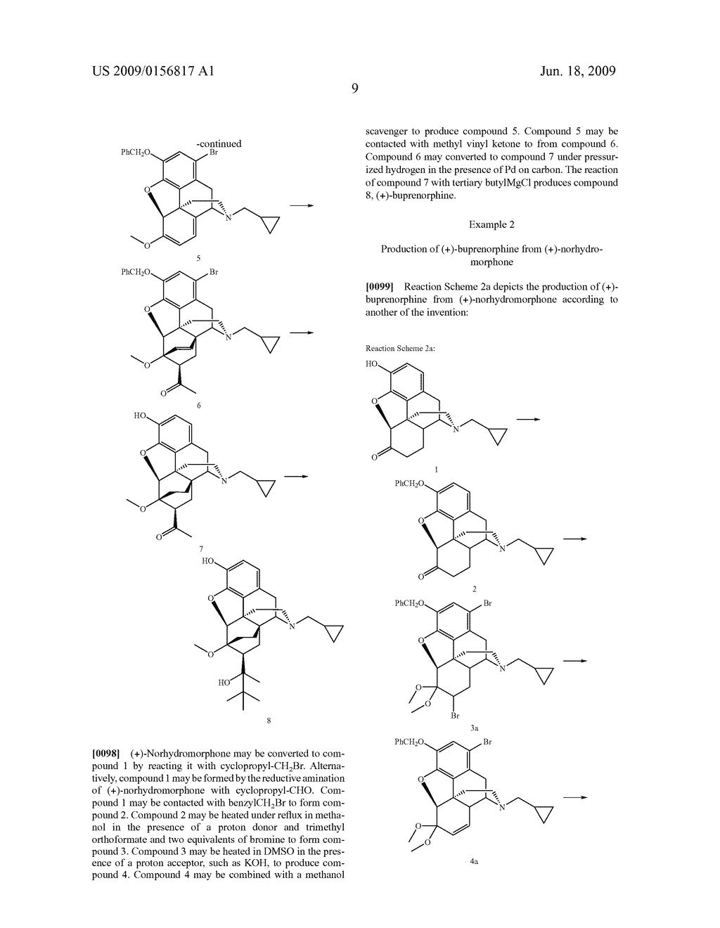 Process for the preparation of buprenorphine and derivatives for buprenorphine - diagram, schematic, and image 10