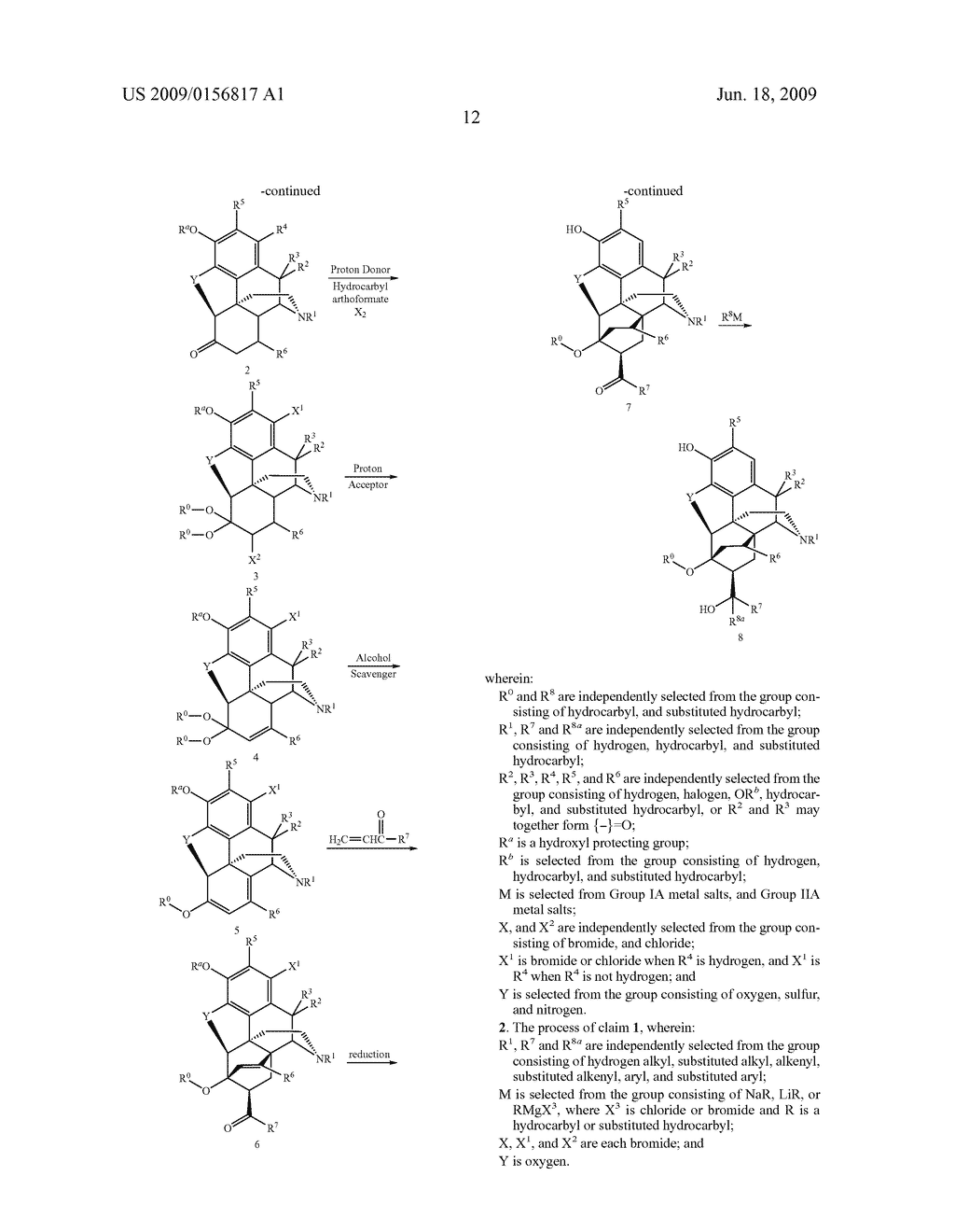 Process for the preparation of buprenorphine and derivatives for buprenorphine - diagram, schematic, and image 13