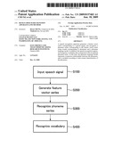 HUMAN SPEECH RECOGNITION APPARATUS AND METHOD diagram and image