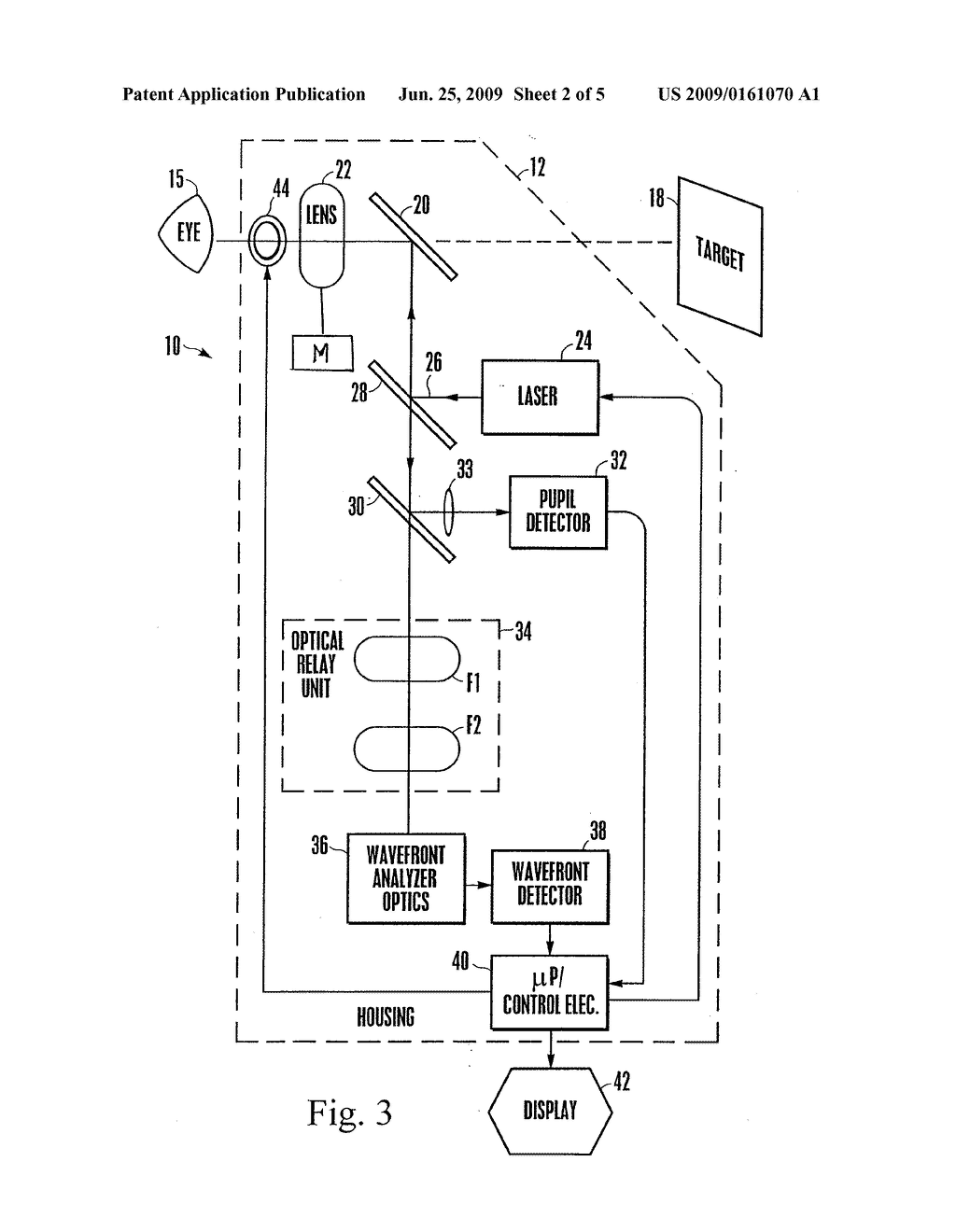 APPARATUS AND METHOD FOR DETERMINING OBJECTIVE REFRACTION USING WAVEFRONT SENSING - diagram, schematic, and image 03