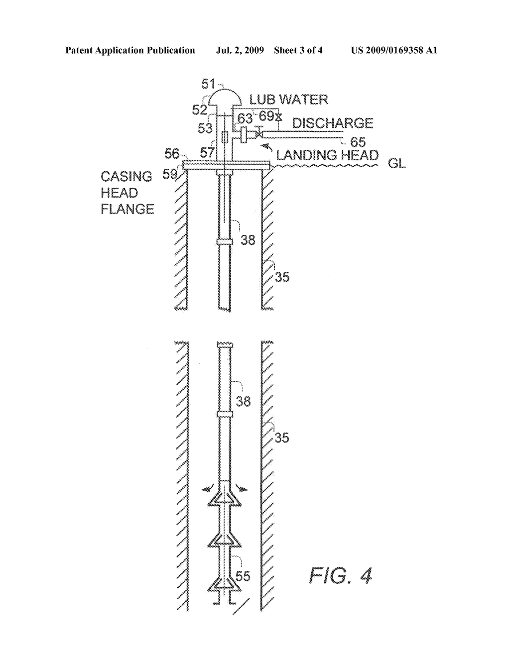 WATER LUBRICATED LINE SHAFT BEARING AND LUBRICATION SYSTEM FOR A GEOTHERMAL PUMP - diagram, schematic, and image 04