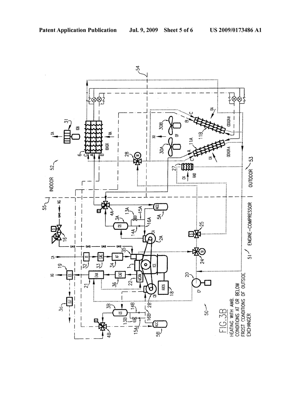 Gas Engine Driven Heat Pump System With Integrated Recovery And Diagram Energy Saving Subsystems Schematic Image 06