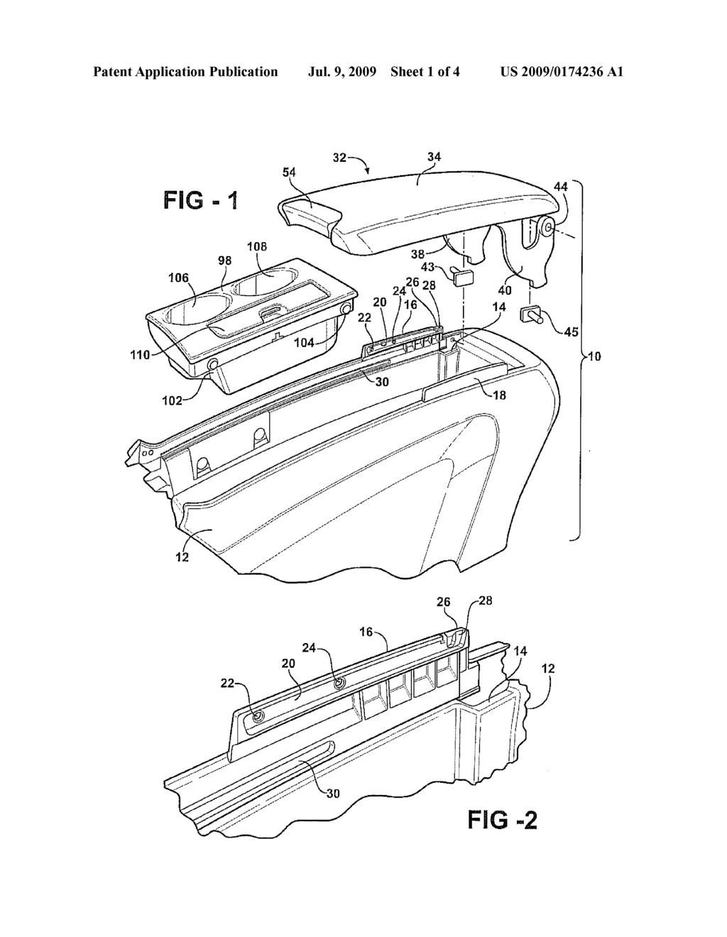 FORWARD/REARWARD SLIDING ARMREST - diagram, schematic, and image 02