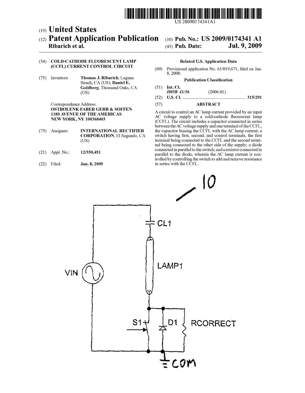Cold Cathode Fluorescent Lamp Ccfl Current Control Circuit Diagram Schematic And Image 01