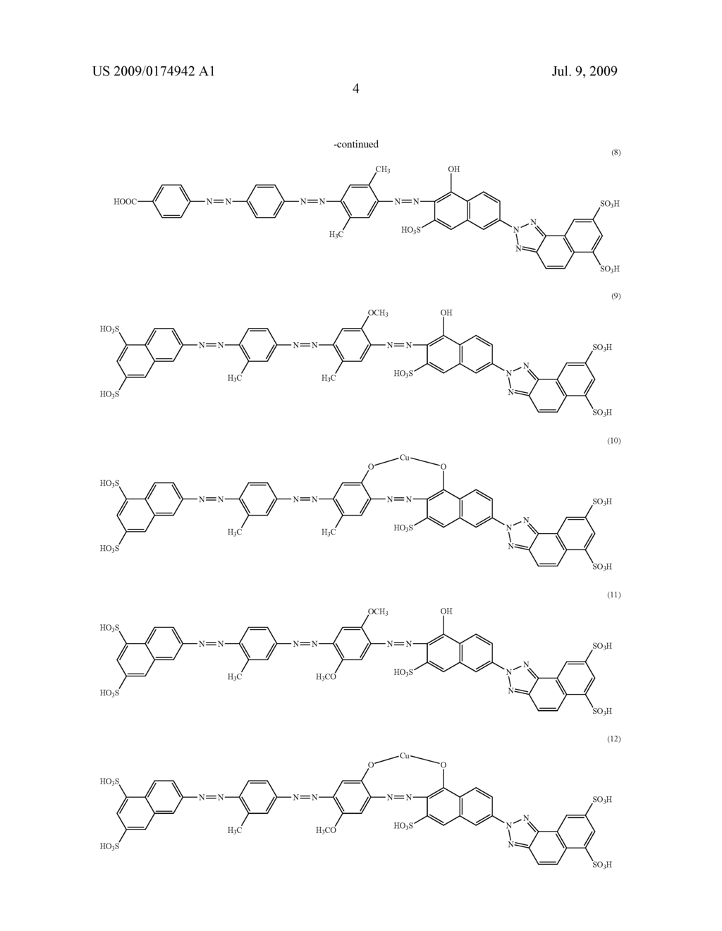 Azo compound and dye polarizing film containing the same - diagram, schematic, and image 05