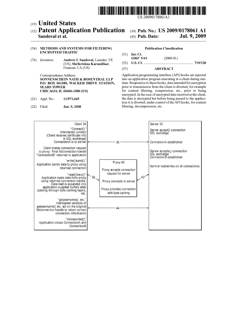 METHODS AND SYSTEMS FOR FILTERING ENCRYPTED TRAFFIC - diagram, schematic, and image 01
