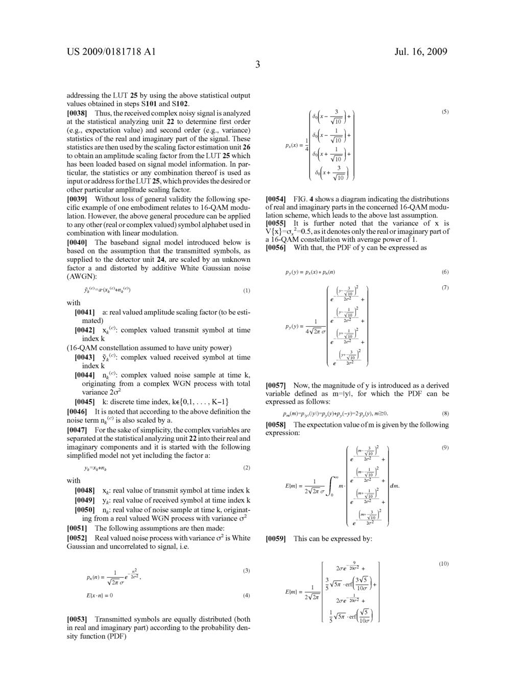 Blind Amplitude Estimation For Received Symbols Diagram Schematic