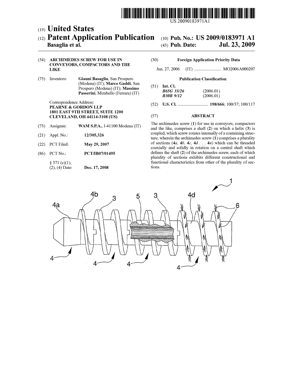 Archimedes Screw For Use In Conveyors Compactors And The Like Compactor Wiring Diagram Schematic Image 01