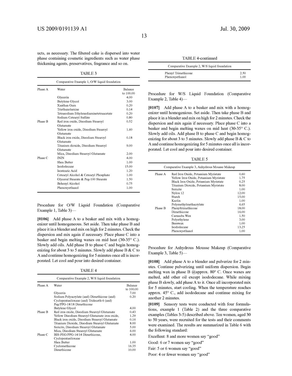 WATER BASE SLURRY COMPOSITION FOR COSMETIC PRODUCTS AND METHODS OF USE - diagram, schematic, and image 16