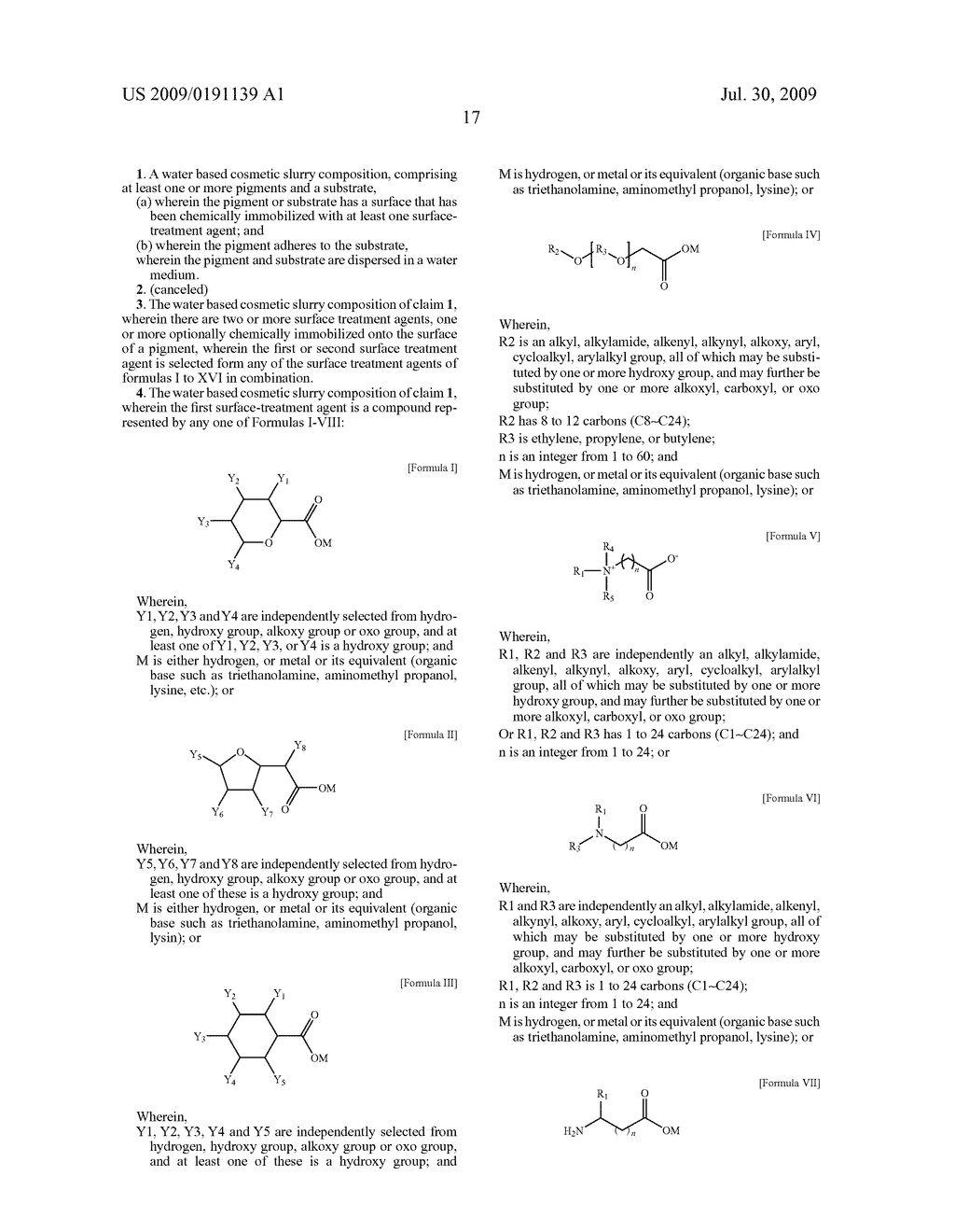 WATER BASE SLURRY COMPOSITION FOR COSMETIC PRODUCTS AND METHODS OF USE - diagram, schematic, and image 20