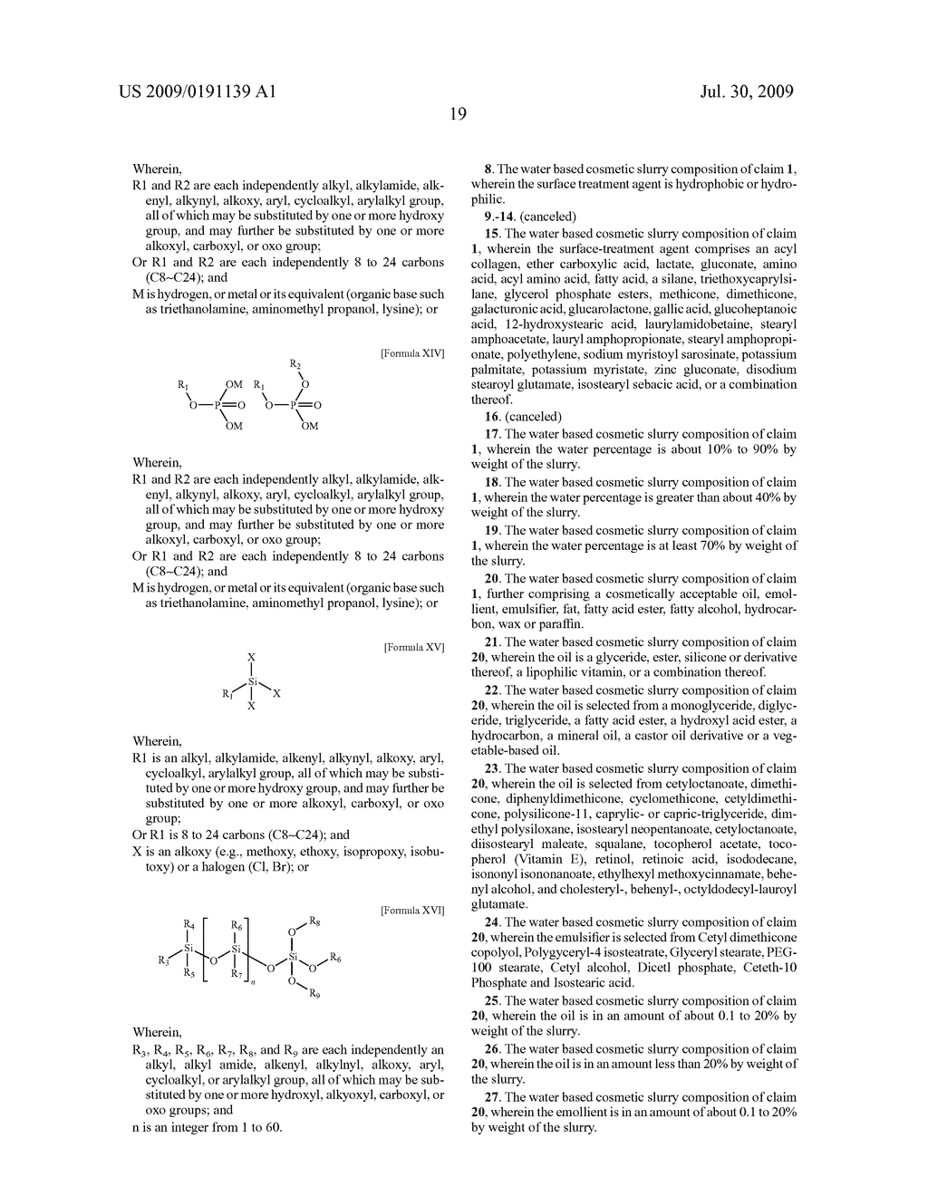 WATER BASE SLURRY COMPOSITION FOR COSMETIC PRODUCTS AND METHODS OF USE - diagram, schematic, and image 22