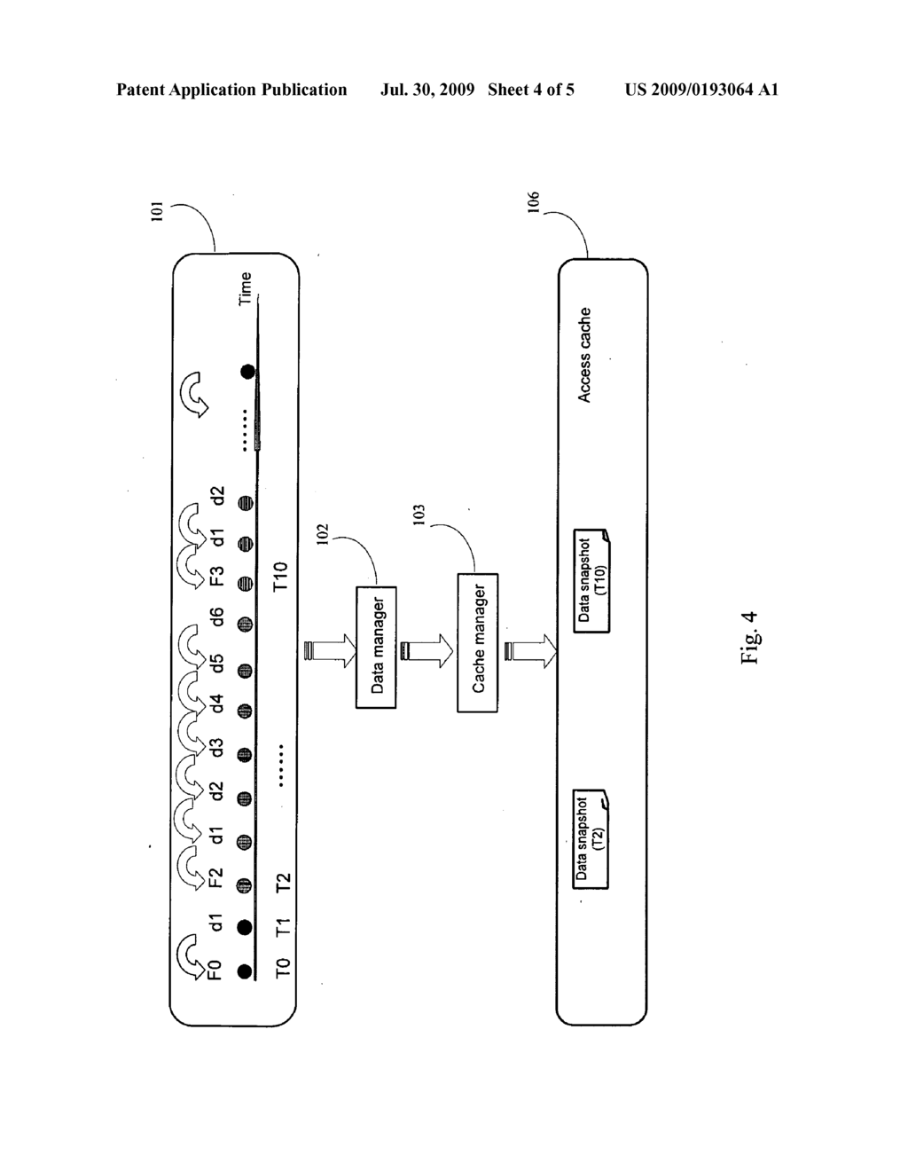 METHOD AND SYSTEM FOR ACCESS-RATE-BASED STORAGE MANAGEMENT OF CONTINUOUSLY STORED DATA - diagram, schematic, and image 05