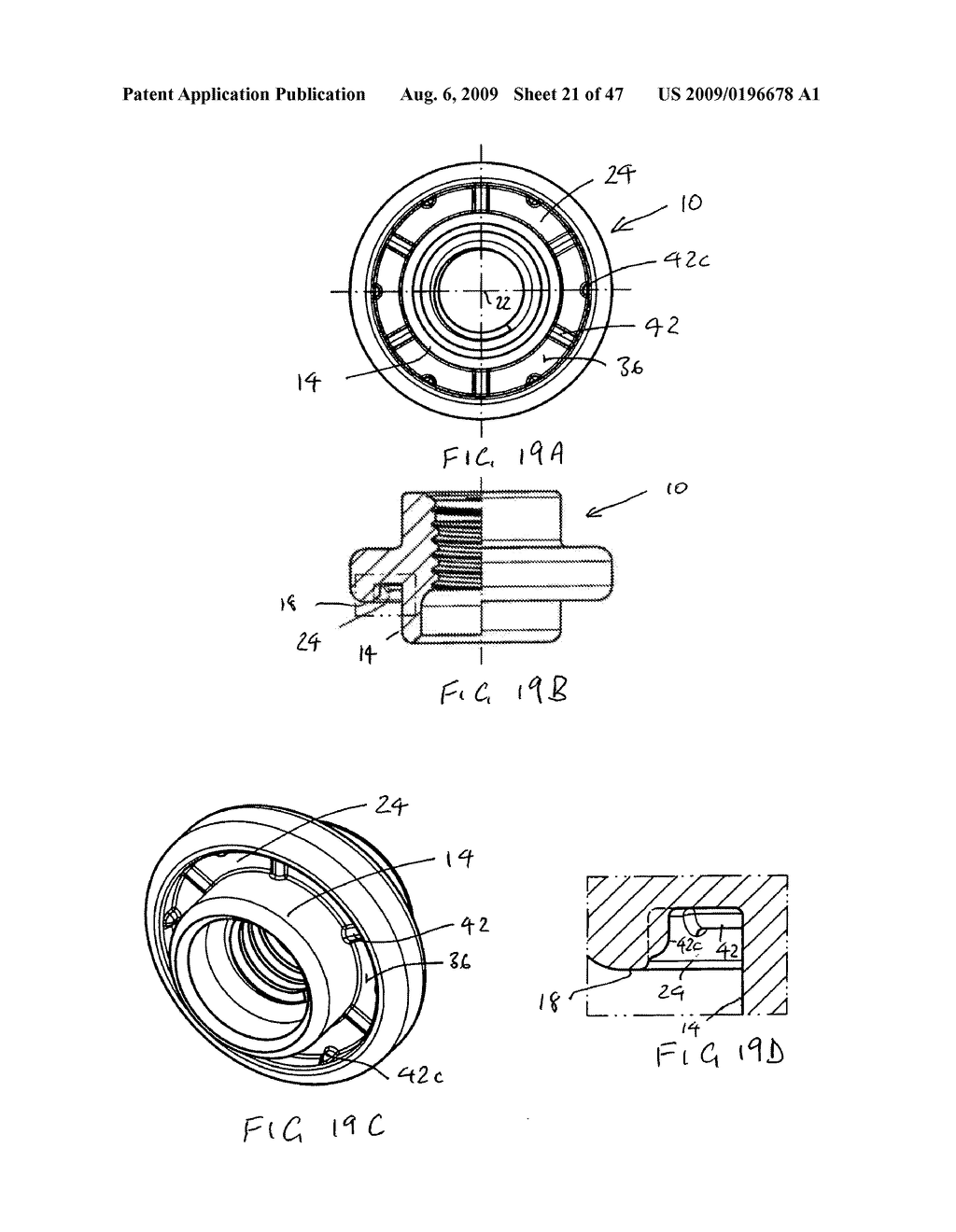RIVET NUT AND RIVET BOLT AND COMBINATION OF A RIVET NUT OR A RIVET BOLT WITH A SHEET METAL PART - diagram, schematic, and image 22