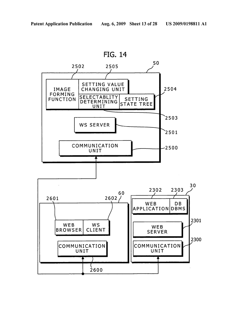 Image Forming System, Image Forming Apparatus, User Interface Device, Extended User Interface Compatibility Confirming Method, Document Scanning Method and Setting Value Managing Method - diagram, schematic, and image 14