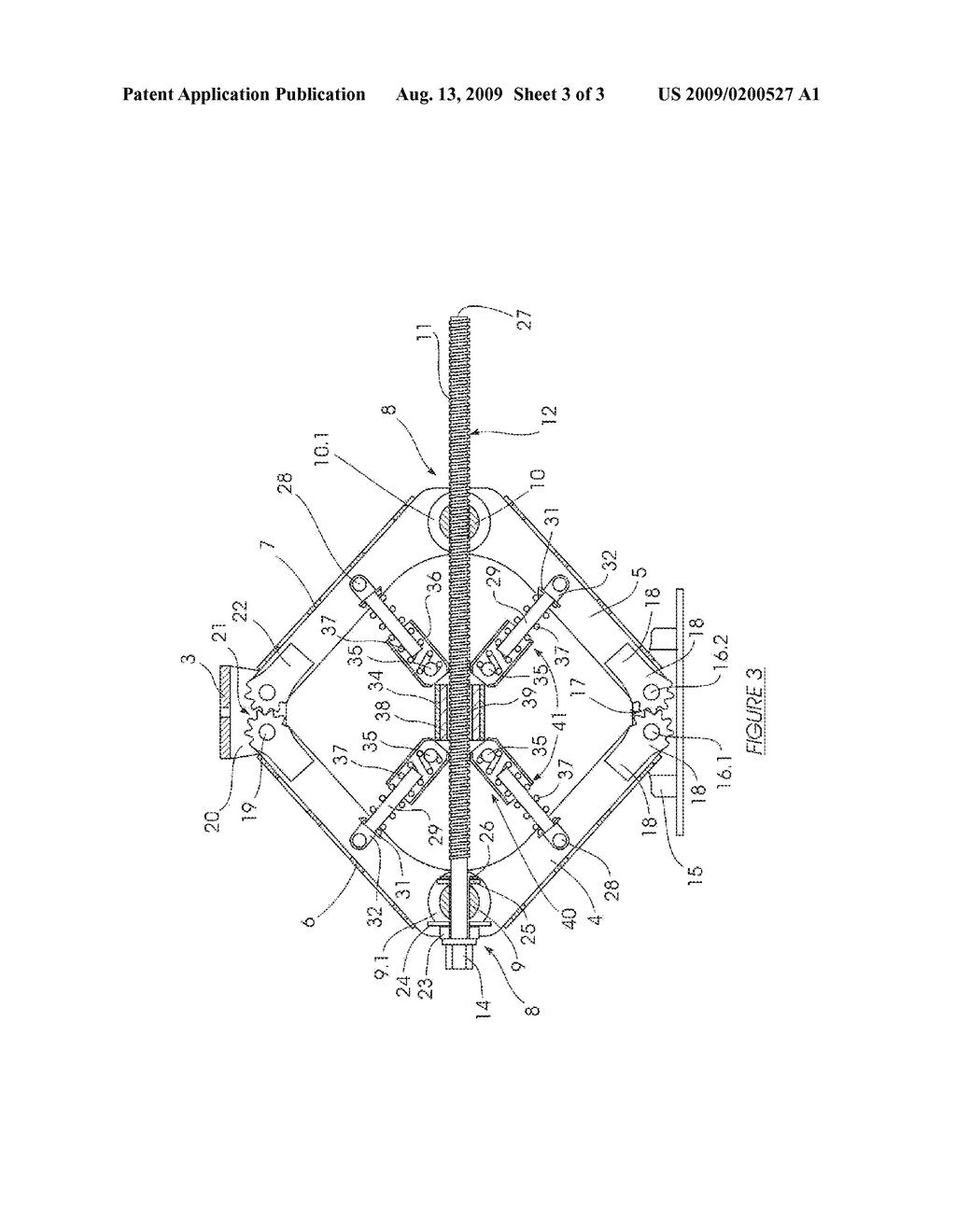 SCISSOR JACK - diagram, schematic, and image 04 on jack table, jack drawing, jack system,