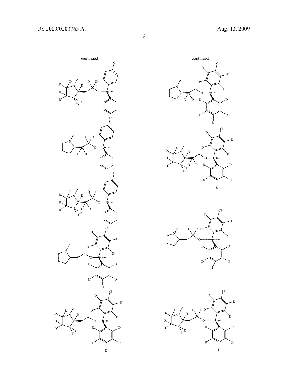SUBSTITUTED BENZHYDRYLETHERS - diagram, schematic, and image 10