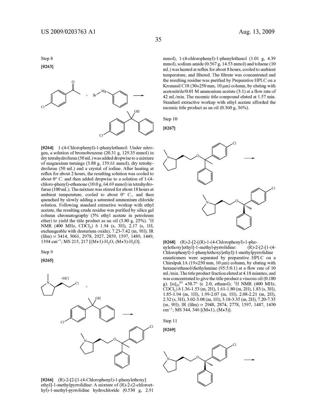 SUBSTITUTED BENZHYDRYLETHERS - diagram, schematic, and image 36