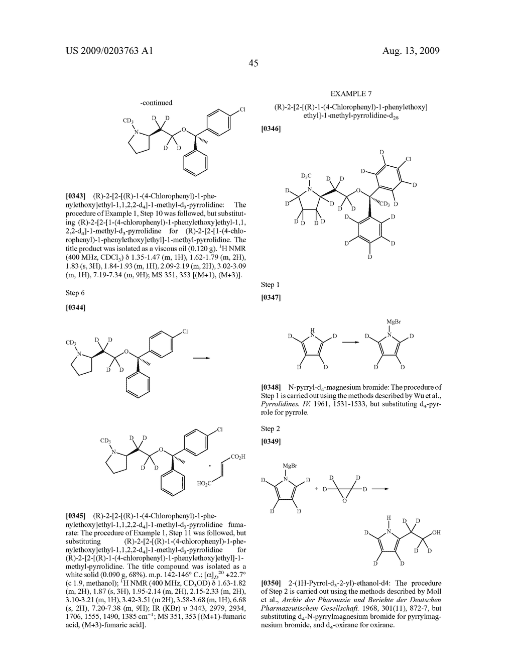 SUBSTITUTED BENZHYDRYLETHERS - diagram, schematic, and image 46