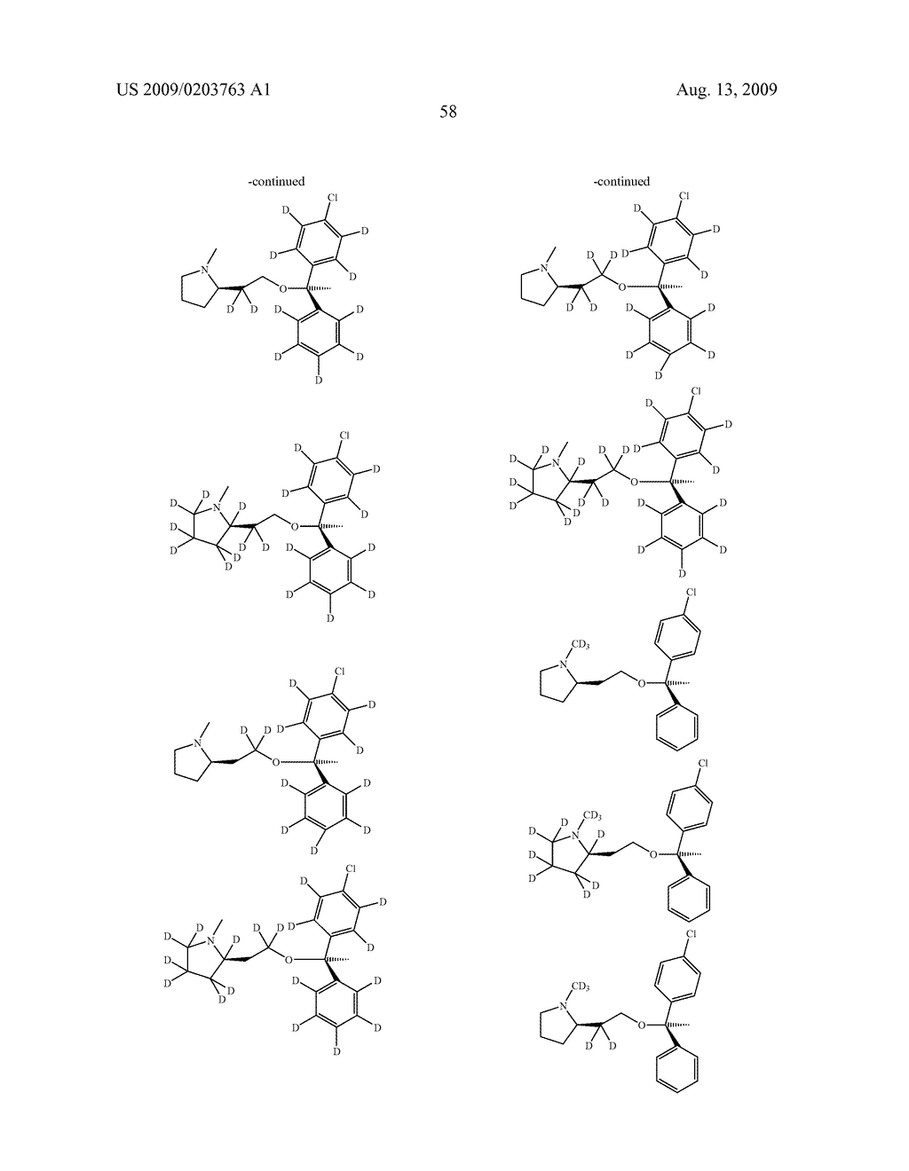 SUBSTITUTED BENZHYDRYLETHERS - diagram, schematic, and image 59