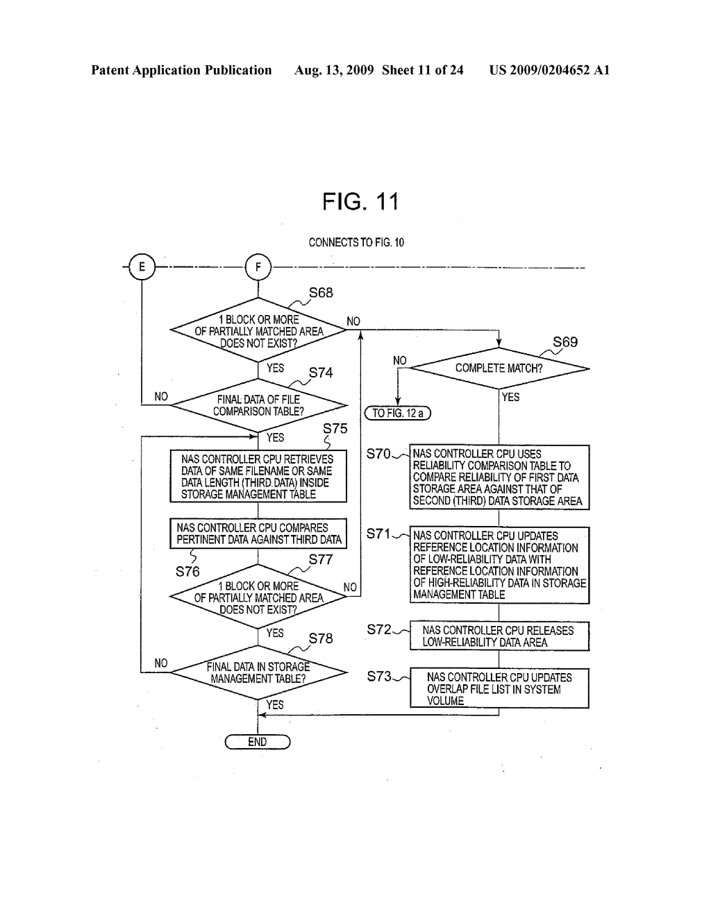 SYSTEM AND METHOD FOR CONTROLLING THE STORAGE OF REDUNDANT ELECTRONIC FILES TO INCREASE STORAGE RELIABILITY AND SPACE EFFICIENCY - diagram, schematic, and image 12