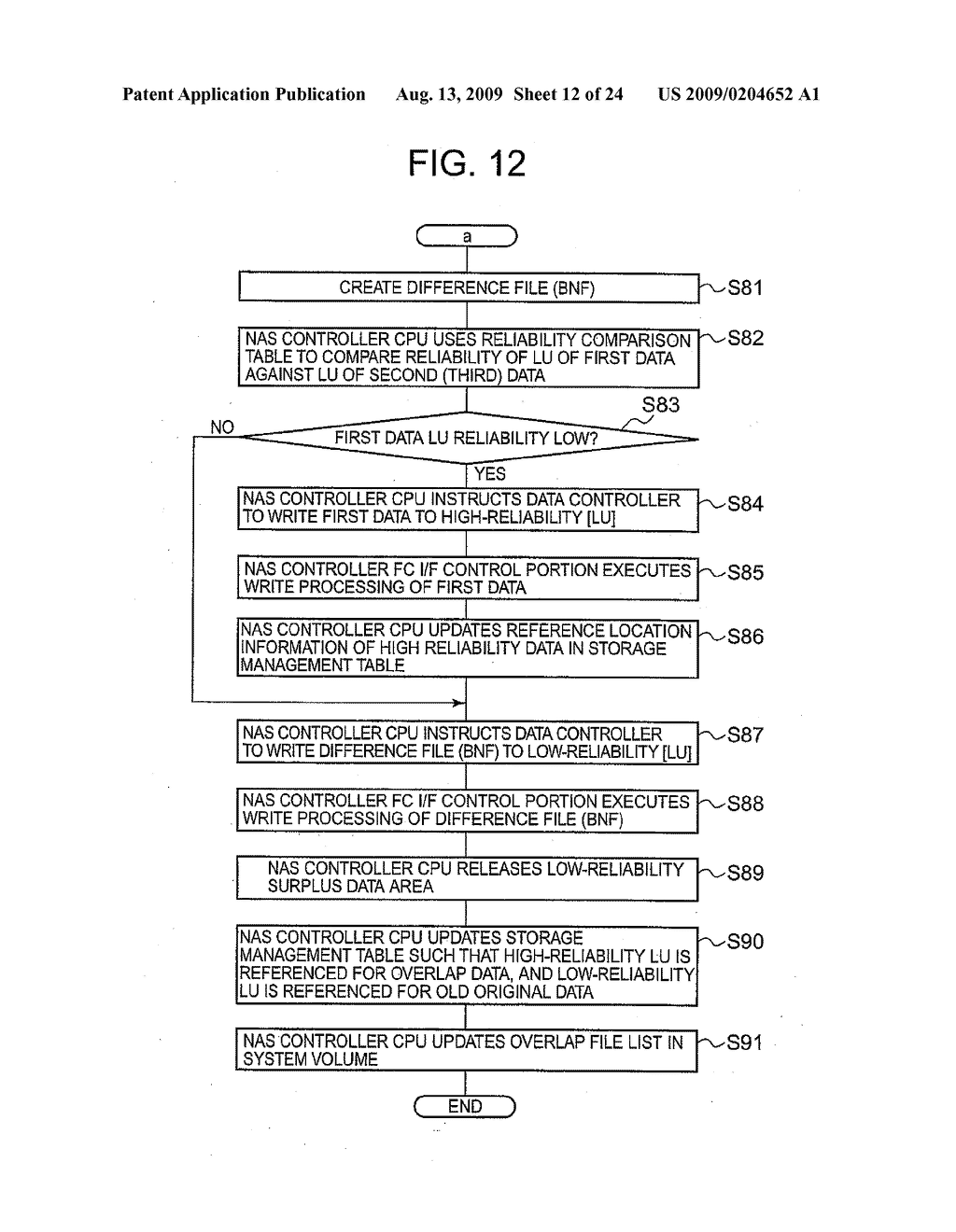 SYSTEM AND METHOD FOR CONTROLLING THE STORAGE OF REDUNDANT ELECTRONIC FILES TO INCREASE STORAGE RELIABILITY AND SPACE EFFICIENCY - diagram, schematic, and image 13