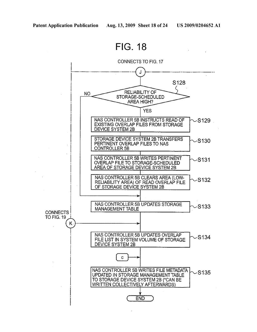 SYSTEM AND METHOD FOR CONTROLLING THE STORAGE OF REDUNDANT ELECTRONIC FILES TO INCREASE STORAGE RELIABILITY AND SPACE EFFICIENCY - diagram, schematic, and image 19