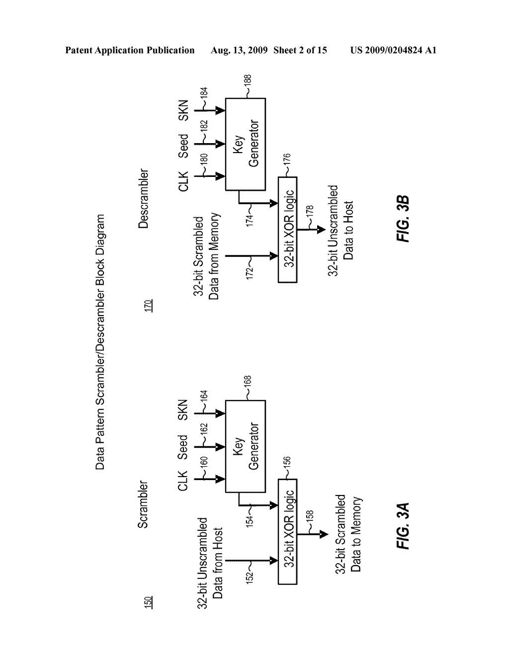SYSTEM, METHOD AND MEMORY DEVICE PROVIDING DATA SCRAMBLING COMPATIBLE WITH ON-CHIP COPY OPERATION - diagram, schematic, and image 03
