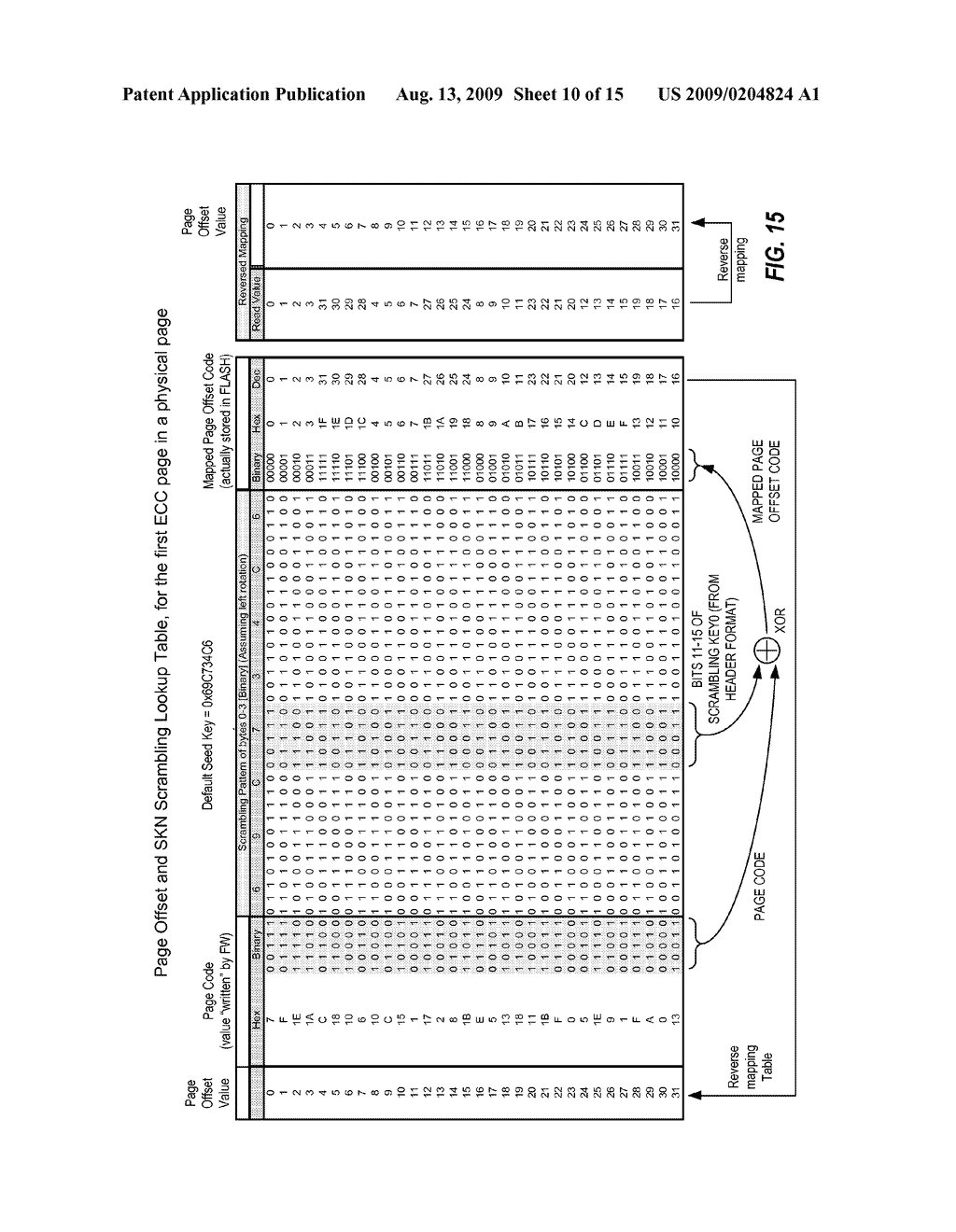 SYSTEM, METHOD AND MEMORY DEVICE PROVIDING DATA SCRAMBLING COMPATIBLE WITH ON-CHIP COPY OPERATION - diagram, schematic, and image 11