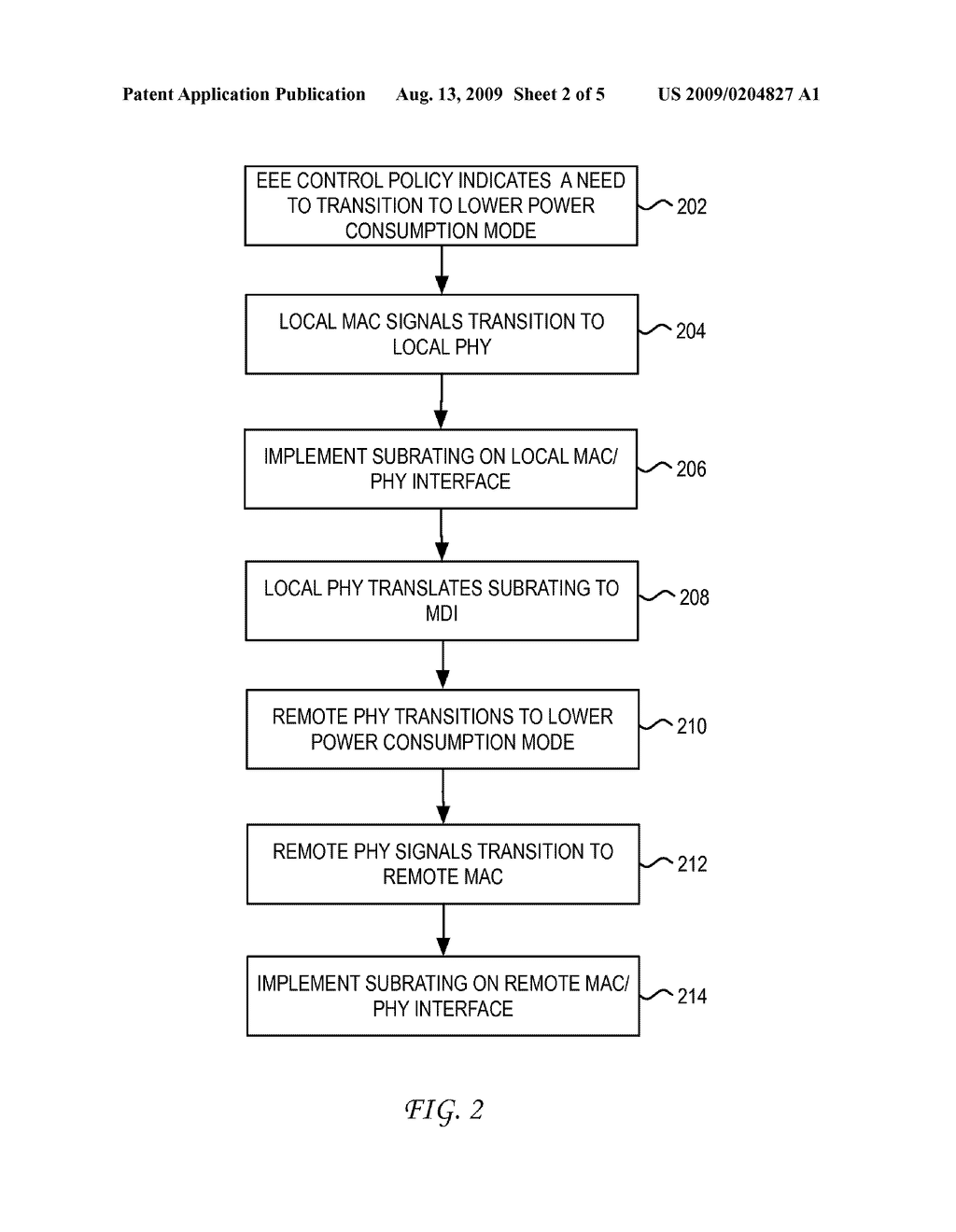 SYSTEM AND METHOD FOR ENERGY SAVINGS ON A PHY/MAC INTERFACE FOR ENERGY EFFICIENT ETHERNET - diagram, schematic, and image 03